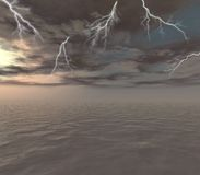Storm. Over the ocean - digital artwork Stock Images