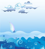Storm. In sea vector illustration Royalty Free Stock Photo