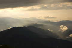 After the storm. Landscape with mountains after a storm Royalty Free Stock Photos