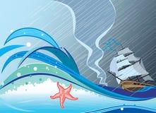 Storm. Vector and raster illustration stock illustration