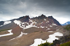 Storm above a mountain Royalty Free Stock Image