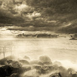 Storm above the ocean. Stock Photography