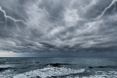 Storm above the ocean. Stock Image