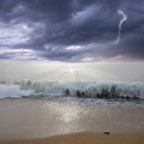 Storm above the ocean. Stock Photos