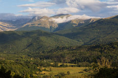 After the storm on the abruzzo mountains Stock Photo
