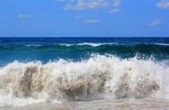 Storm on Adriatic Sea. In Montenegro Royalty Free Stock Photos
