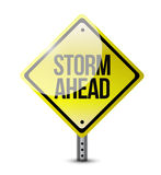 Storm ahead street sign illustration design Royalty Free Stock Photography