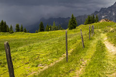 Storm in the Alps Royalty Free Stock Photography