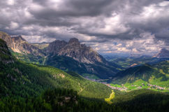 Storm on the alps Royalty Free Stock Photos