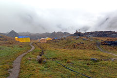 Storm in the Annapurna Base Camp, Nepal Royalty Free Stock Photo