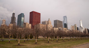 Storm Approaches Spring Time Scene Chicago Illinois City Skyline Royalty Free Stock Photo