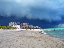 Storm Approaching. Off the coast of Fort Lauderdale beach Royalty Free Stock Image