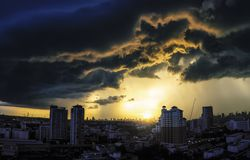 Storm is approaching royalty free stock photo