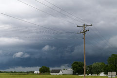Storm approaching. Bois d'Arc, USA - May 26, 2014: Sky with dark clouds moving on Stock Images