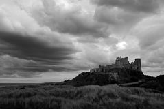 Storm Approaching a Castle Stock Photography