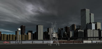Storm Approaching CityDeep low-pressure weather-f Royalty Free Stock Photo
