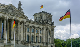 Storm Approaching the German Parliament in Berlin Royalty Free Stock Photo