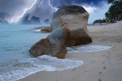Storm approaching Lamui Beach in Koh-Samui Stock Image