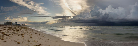 Storm approaching Miami Stock Photos