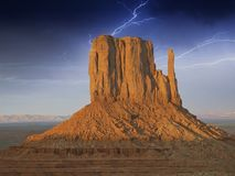 Storm approaching Monument Valley Stock Photography