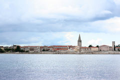 Storm approaching Porec (Parenzo) old town in Istria, Croatia, A Royalty Free Stock Images
