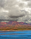 Storm Approaching Roosevelt Lake Arizona Royalty Free Stock Photos