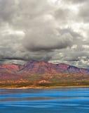 Storm Approaching Roosevelt Lake Arizona Royalty Free Stock Photos