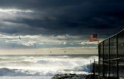Storm on Atlantic ocean royalty free stock photo