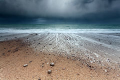 Storm on Atlantic ocean coast Stock Images