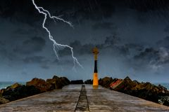 Storm on the Atlantic shore Royalty Free Stock Photo