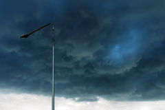 Before storm on background of dark clouds, Storm background. stock photo