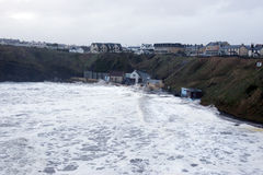 Storm at Ballybunion seaside beach Stock Photos