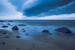 Storm at Baltic sea. 215 stock photography