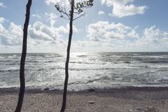 Storm on Baltic sea Royalty Free Stock Photo