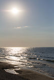 Storm on the Baltic sea before sunset. Stock Photography