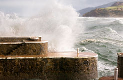 Storm at Basque Country coast Stock Photos