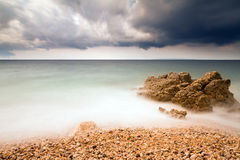 Storm beach Stock Photography