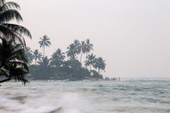 Storm on the beach. Stock Photos