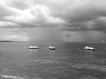 Storm. Artistic look in black and white. Royalty Free Stock Images