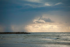 Storm on the beach Stock Photography