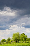 Before the storm. Beautiful rural landscape with clouds in the sky Stock Photo