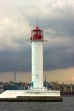 The storm begins. Vorontsov Lighthouse in Odessa, Ukraine. Royalty Free Stock Photography