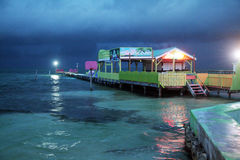 Storm in belize Stock Image