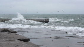 Storm_black_sea_1790_HD Stock Image