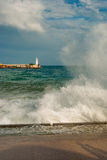 Storm on  a Black Sea shore in Yalta city Stock Photography