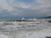 Storm on the Black Sea, thunder clouds Royalty Free Stock Images