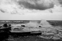 Storm at Black Sea Stock Photo