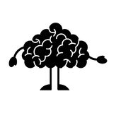Storm brain character icon Royalty Free Stock Photo