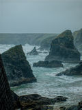 Stormy sea at Bedruthan steps, Cornwall. Stock Image