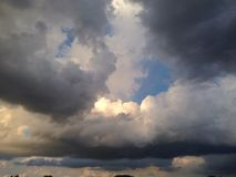 Storm Brewing. A storm building up in the sky with dark, thunderclouds Stock Photo